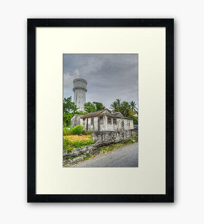 The Water Tower in Nassau, The Bahamas Framed Print