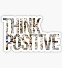 Think positive! II Sticker