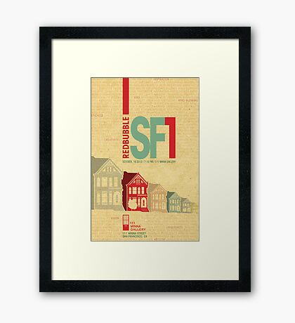 RedBubble SF1 Poster Contest Entry Framed Print