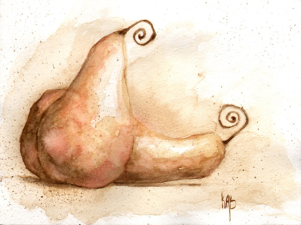 Faerie Pears by elykpaint