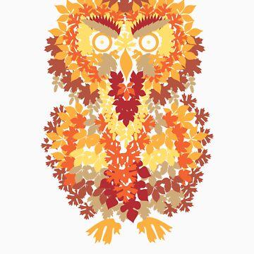 Fall Owl - Leafy Camo by ressamac