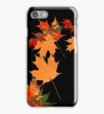 Colorful autumn maple leaf design  iPhone Case/Skin