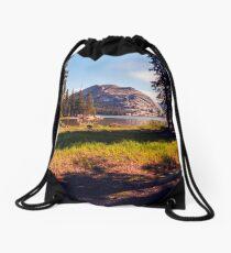 Tenaya Lake. Yosemite National Park, CA. Drawstring Bag