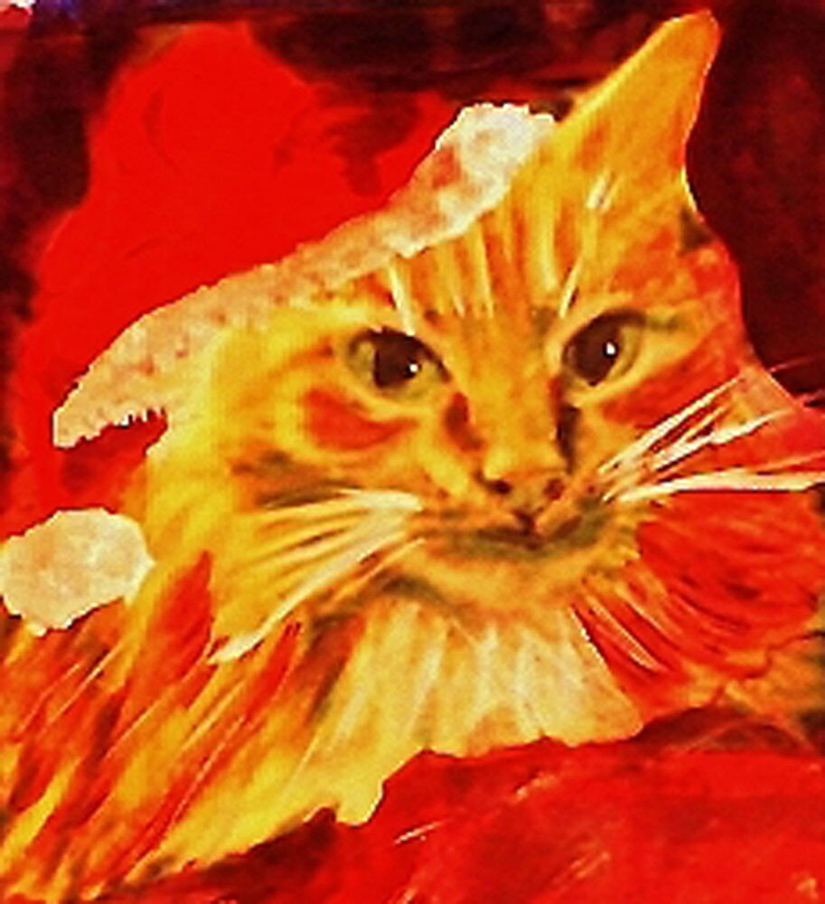 Gabbie got dressed for Christmas today,  she is early and excited! by Anna  Lewis, blind artist