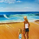 G and Me at the Sea ... A Moment of Wonder by Leslie Gustafson