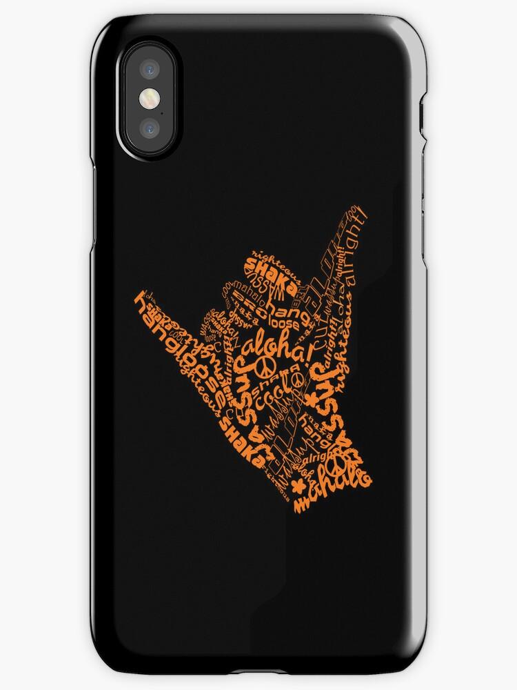 shaka hand sign iphone ipod case by Karin Taylor