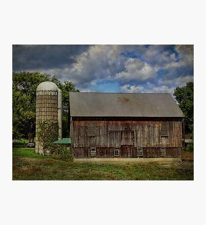 Barn with Silo Photographic Print