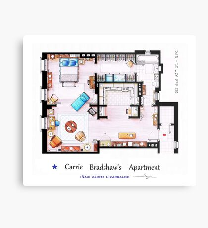 Sex & The City Apartment Metal Print