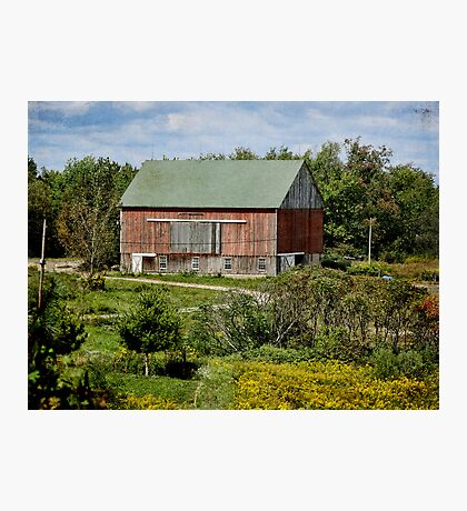 Another Red Barn Photographic Print