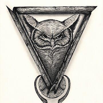 Owl Portrait by BrandonDover