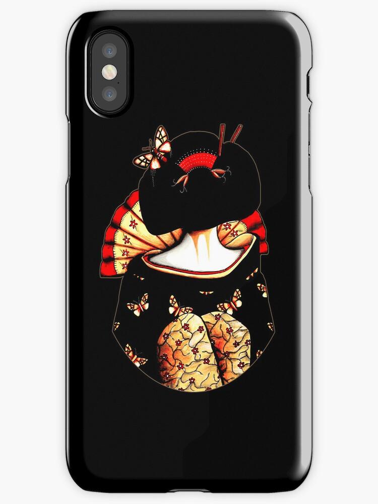 geisha girl iphone ipod case by Karin Taylor