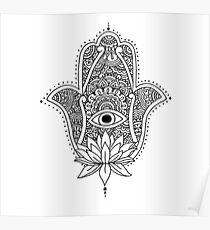 Henna Hand Designs Poster