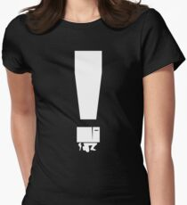 EXCLAMATION BOX! Womens Fitted T-Shirt