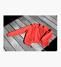 The Red Cardigan Photographic Print
