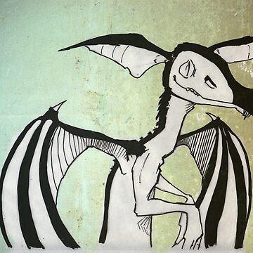 Chalk, Juvenile Swamp dragon by DankoSoroka