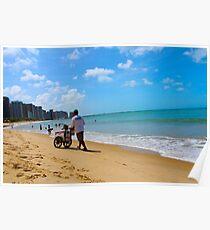 Beach in Brazil 2 Poster