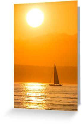 Puget Sound Sunset by Jim Stiles