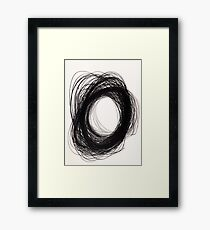 power of lines Framed Print