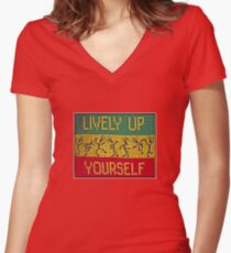 lively up yourself! Women's Fitted V-Neck T-Shirt
