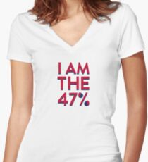 I Am The 47% Women's Fitted V-Neck T-Shirt