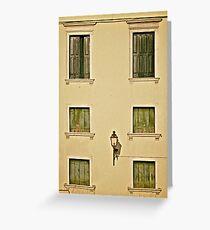 6 Venetian Shutters Greeting Card
