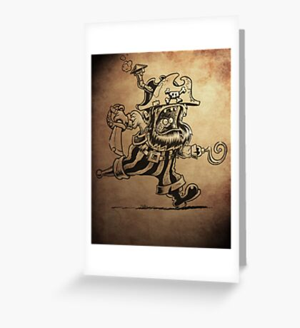 Steam Powered Pirate posters and prints Greeting Card