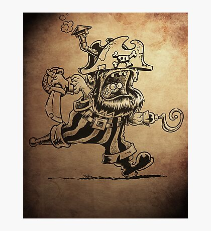 Steam Powered Pirate posters and prints Photographic Print