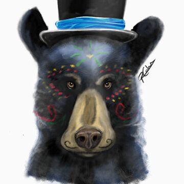 Dia de los Muertos - Black bear by BuddyAvenue