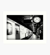 First Train to Ealing Art Print