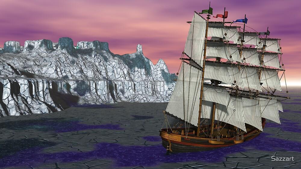 Tall Ship's Polar Trap by Sazzart