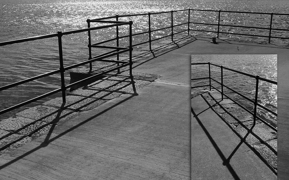 a barrier to a shining sea ~ diptych by ragman