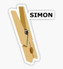 Simon Peg Sticker