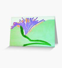 Spirit Flowers - Abundance with purple and orange petals Greeting Card