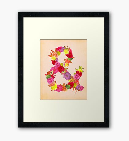 Flower Ampersand Framed Print
