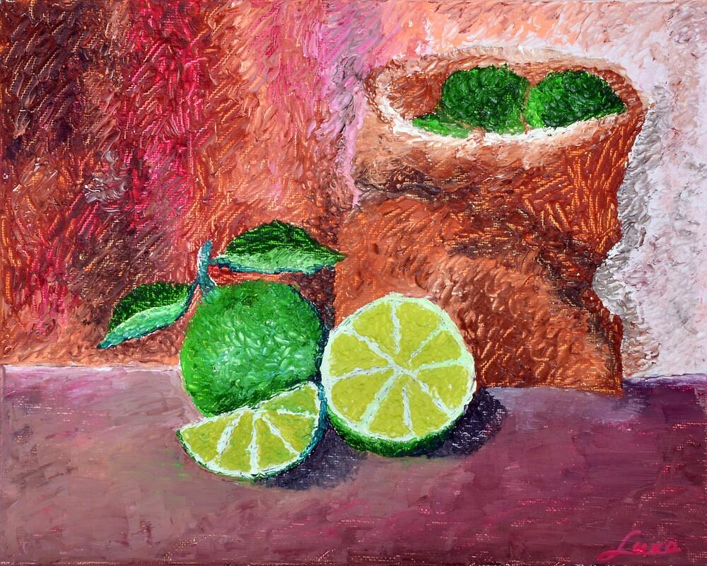 Lime Green by Luxoart