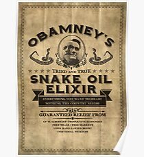 Obamney's Tried and True Snake Oil Elixir Poster