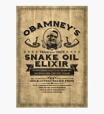 Obamney's Tried and True Snake Oil Elixir Photographic Print