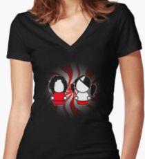 The White Stripes Women's Fitted V-Neck T-Shirt