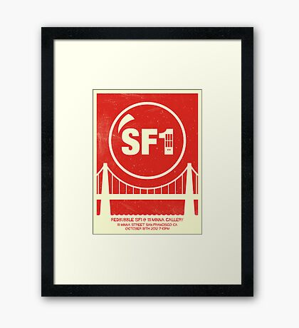 Redbubble SF1 Minimalist Poster Framed Print