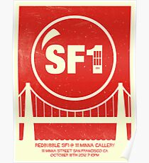 Redbubble SF1 Minimalist Poster Poster