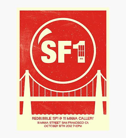 Redbubble SF1 Minimalist Poster Photographic Print
