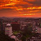 Fiery Seoul sunset by Gabor Pozsgai