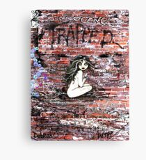 Little Girl Trapped Canvas Print