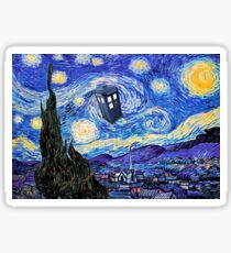 Starry Night Inspiration Doctor Who Tardis Products Sticker