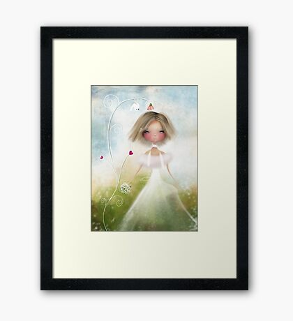 Bird and Bride Framed Print