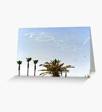Skywriter Greeting Card
