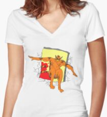 Garfielf the king of the sunday funnies Women's Fitted V-Neck T-Shirt