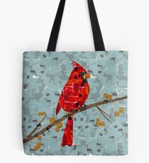 Red Cardinal Collage Tote Bag
