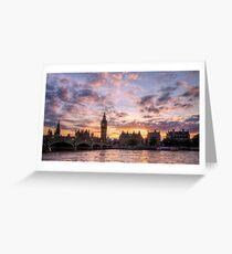 Big Ben at sunset  Greeting Card