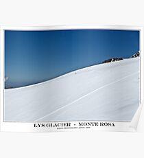 lys glacier Poster